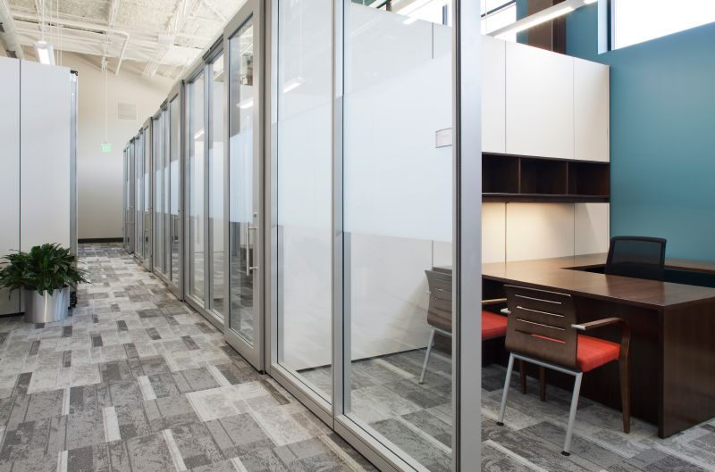 Office glass cubicles example