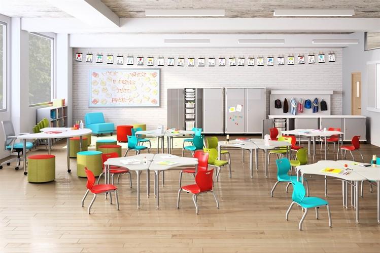 Elementary classroom Haworth furniture