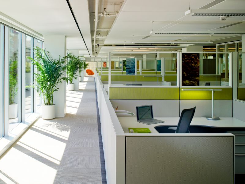 Government stylish looking open office setup
