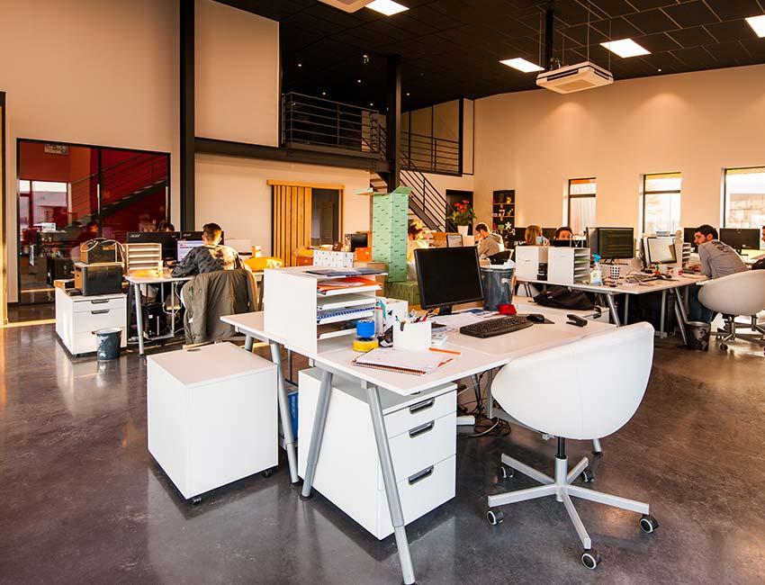 Open office floor example